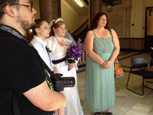 First same-sex marriages in Wayne County