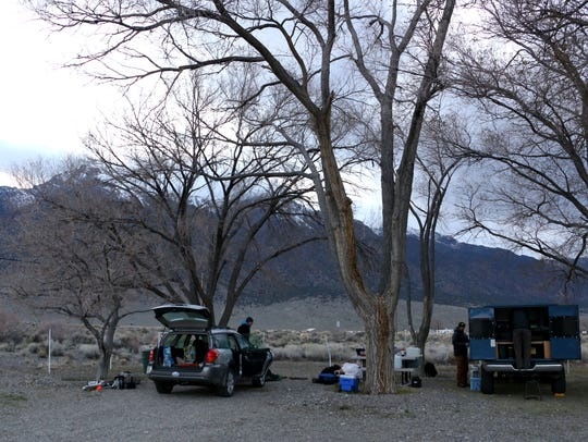 Car camping in the Big Smokey Rest Stop in Carvers