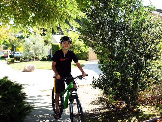 Now that he's 12, Ethan Silacci will ride for his younger