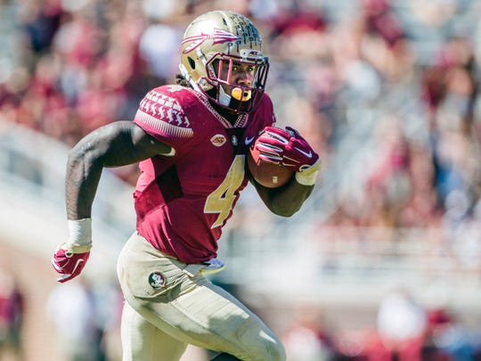Florida State's Dalvin Cook is one of three runnings projected to be first-round picks.