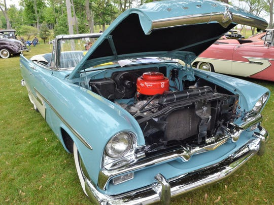 Bill Smith of East China restored his 1956 Plymouth Belvedere with original parts and materials, working on the project over a period of 13 years.
