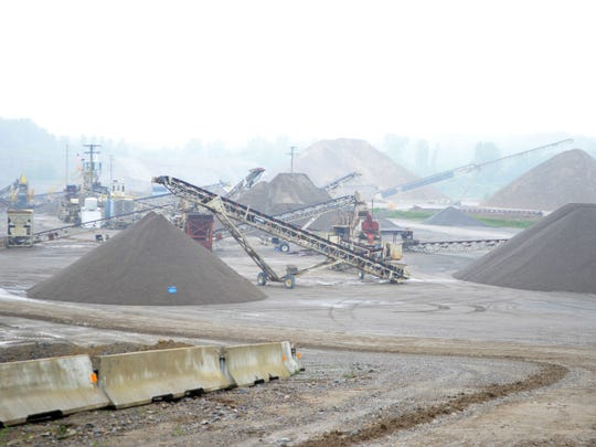 The gravel pit of Mid Michigan Materials offered a