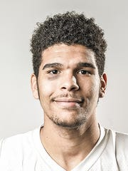 Dover's Najah Fink, a GameTimePA all-star boys basketball player. Portrait taken Monday, March 14, 2016, at York Suburban.