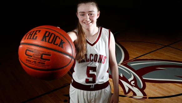 Albertus Magnus junior Kate Mager, Rockland girls basketball