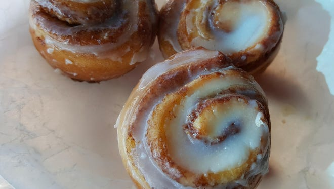 Mini cinnamon rolls (3 for $1) at The Shed, 810 S. Valley Drive.