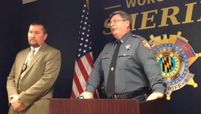 Law-enforcement officials, including Lt. Mike McDermott of the Worcester County (Md.) Sheriff's Office announced the arrest of 18 men Jan. 22, 2015, whom they said solicited minors for sex or had child pornography on their computers.