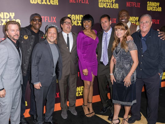 Arsenio Hall (second from left) at the premiere of