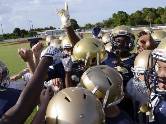 High School Football: Holy Trinity Football Practice