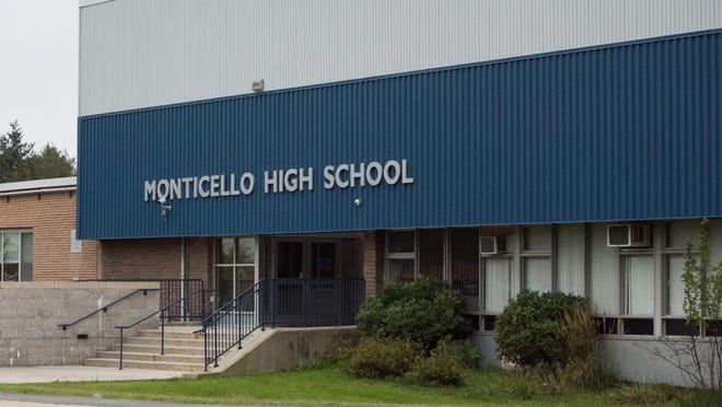 The Monticello school district still faces a $1.9 million penalty from the state for failing to file reports for past building projects that were subsidized with state aid.