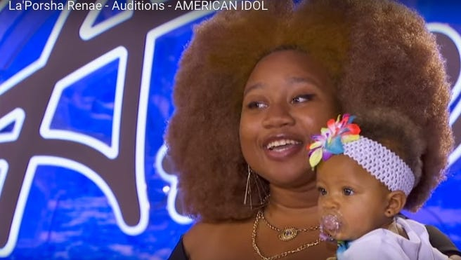 La'Porsha Renae, a singer from McComb, gave 'American Idol' another try, accompanied by a good luck charm—her daughter.