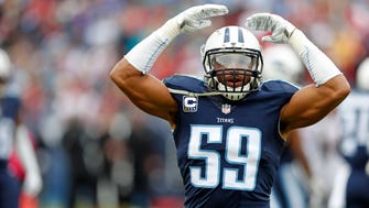 Titans inside linebacker Wesley Woodyard is entering his 10th year in the league.