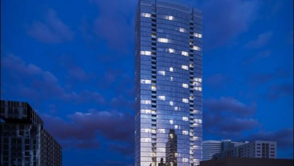 A rendering of 505, downtown Nashville's tallest residential tower.