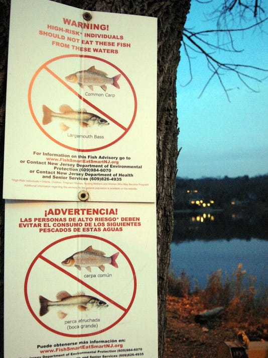 Fish warning sign