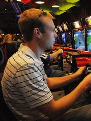 The NASCAR game at Dave and Buster's/