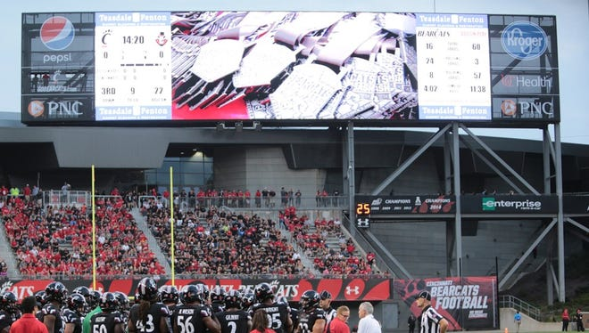 The University of Cincinnati is making enhancements to its video board at Nippert Stadium.