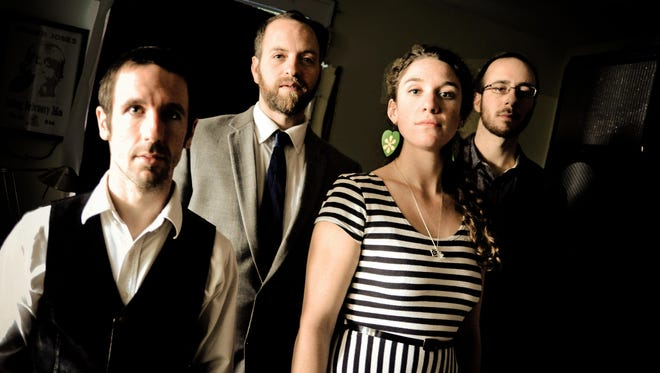 """Driftwood — from left, Joe Kollar, Dan Forsyth, Claire Byrne and Joey Arcuri — released """"City Lights"""" in November."""