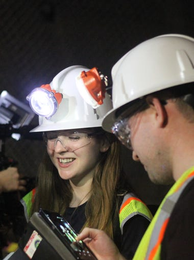 British journalists film a documentary, April 30, 2018 at the Waste Isolation Pilot Plant.