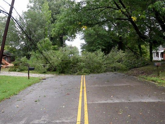Bemis Lane was closed Friday morning, September 1,
