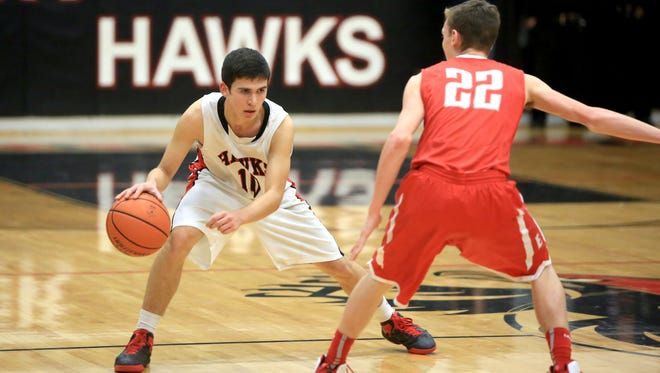 North Buncombe's Kevin Church, left, will play in the Blue-White All-Star basketball games.