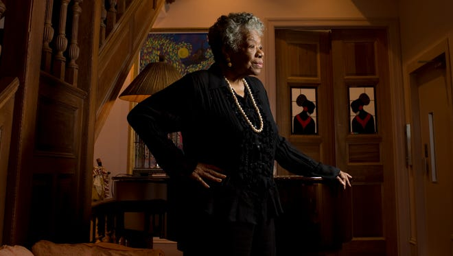Author and poet Maya Angelou, photographed at home on April 4, 2008.