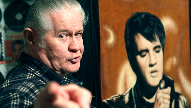"""In this Dec. 9, 2009 photograph, Paul MacLeod is a perpetually caffeinated Elvis fanatic who's taking care of business 24-7-365 at the antebellum home he calls """"Graceland Too,"""" in Holly Springs, Miss. (AP Photo/Rogelio V. Solis) In this Dec. 9, 2009 photograph, Paul MacLeod is a perpetually caffeinated Elvis fanatic who's taking care of business 24-7-365 at the antebellum home he calls """"Graceland Too,"""" in Holly Springs, Miss. (AP Photo/Rogelio V. Solis)"""
