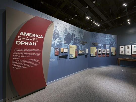 "A new exhibit, ""Watching Oprah: The Oprah Winfrey Show and American Culture,"" opens Friday at the National Museum of African American History of Culture. The 4,300 square foot exhibit features more than 240 artifacts and five exhibit sections that chronicle the life and work of media mogul Oprah Winfrey. (Walter Larrimore/Smithsonian Institution, National Museum of African American History and Culture)"