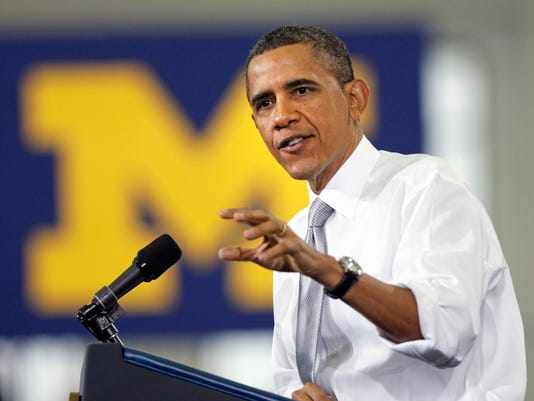 President Obama Speaks At The University Of Michigan