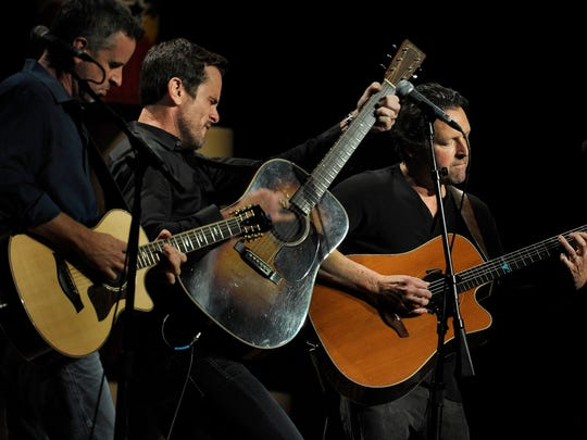 Chip Esten of the TV show  Nashville, performs at the Ryman at the Stars for Second Harvest  benefit concert on Tuesday June 9, 2015, in Nashville.