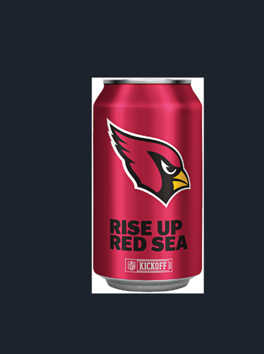 Take a look at the Bud Light NFL team cans and bottles for 28 teams for the 2017 season, including the Cardinals'.