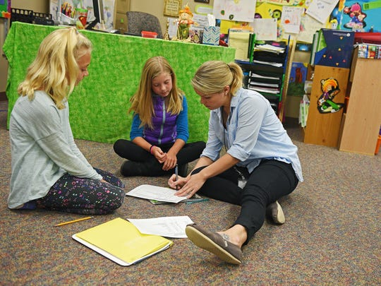 University of South Dakota student teacher Ellie Hart,