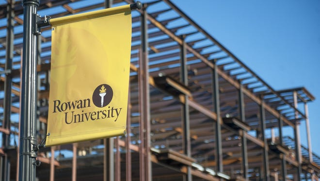 A beam signing ceremony was held at the construction site of Rowan University's Rohrer College of Business in Glassboro in January.