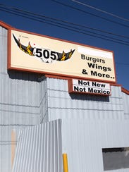 The 505 Burgers and Wing resturant as seen on Thursday