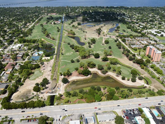 Here is an aerial view of the Fort Myers Country Club taken in September.