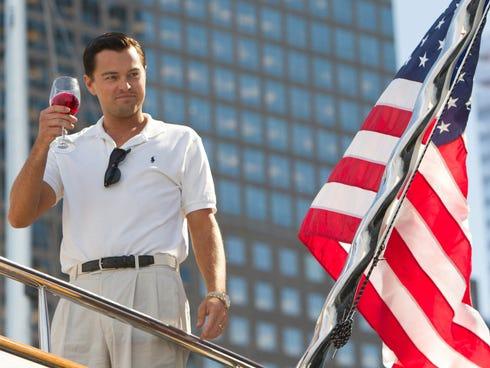 Leonardo DiCaprio lives the good life as Jordan Belfort in
