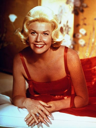 "Doris Day, seen here in a 1962 photo, turns 90 on April 3. Day was a recording star in the 1940s, and an extremely popular film star from the early 1950s through the early 1960s. She also starred on TV's ""The Doris Day Show"" from 1968 to 1973."