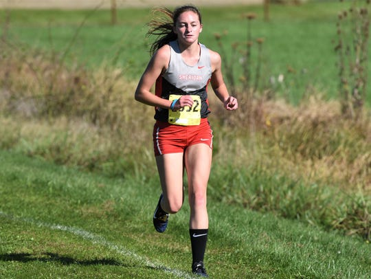 Sheridan's Anna Foster leads the way in the MVL girls