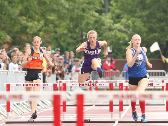 Albany's Sophia Waletzko competes in the 300-meter