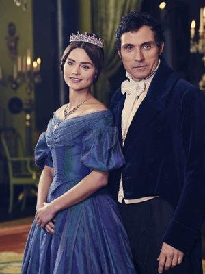 "Jenna Coleman and Rufus Sewell costar in ""Victoria"""" on PBS' ""Masterpiece."""