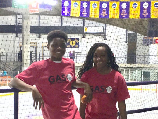 Elmira High School students Lee & Jahleea Dennery take part in a Great American Smokeout event in November at Murray Athletic Center.
