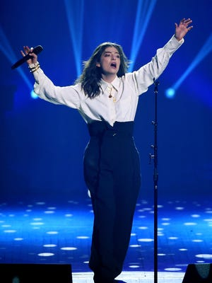 Singer Lorde performs at the 2018 MusiCares Person of the Year tribute honoring Fleetwood Mac at Radio City Music Hall on Friday, Jan. 26, 2018, in New York.