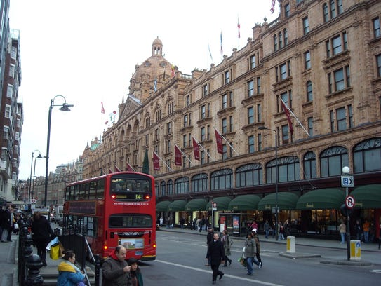 London's many attractions — such as its famous Harrods