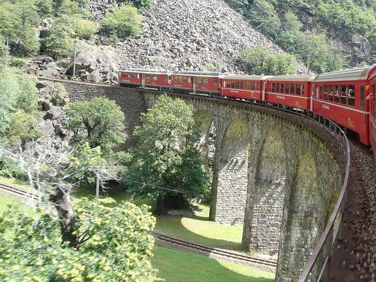 Taking a train like Switzerland's Bernina Express keeps