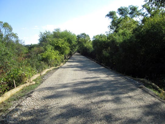 The paved Bug Line Recreational Trail offers a paved