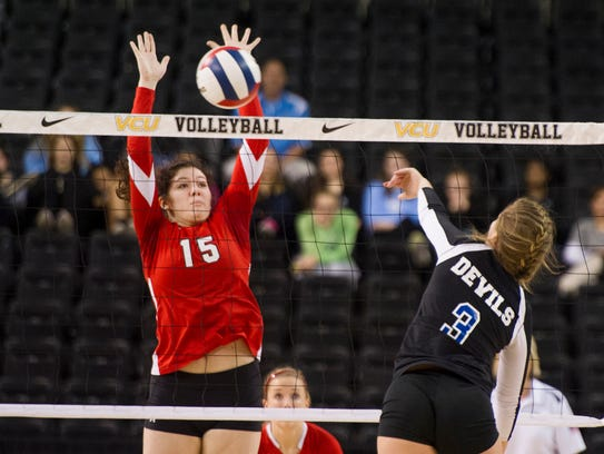 Riverheads' Nyssa Stapleton (15) played on the school's