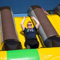 Check out highlights from the Great Inflatable Race in Shrewsbury