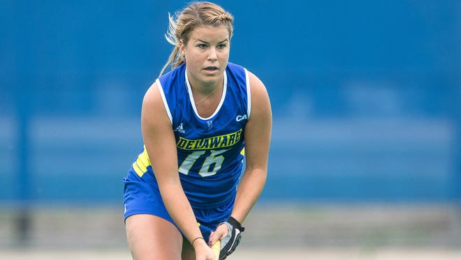 Cape Henlopen High grad Jacki Coveleski has 17 goals and 17 assists in her UD field hockey career.