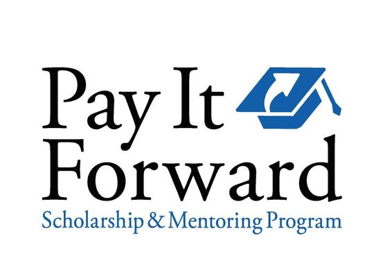 The logo for Pay It Forward.