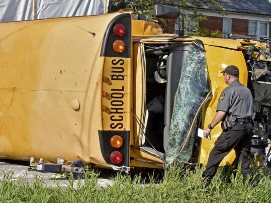 School Bus-Hit-Run Crash