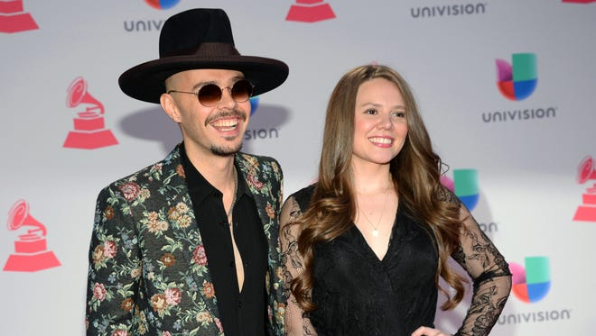 Siblings Jesse Huerta, left, and Joy Huerta, of Jesse & Joy, are among the acts tied for top nominations at this year's Latin Grammys.