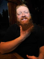 Jeremy Wilcox's 9-inch red beard has become a sensation